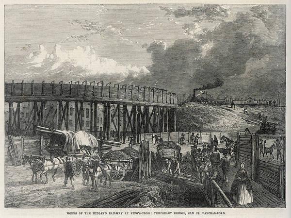 Wall Art - Drawing - Midland Railway Works At Saint  Pancras by  Illustrated London News Ltd/Mar