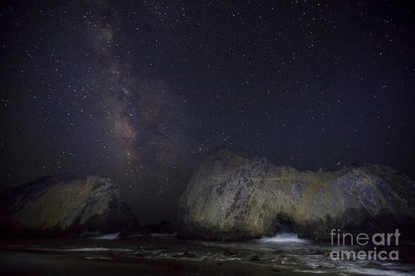 Wall Art - Photograph - Midnight At Pfeiffer Beach Arch by Keith Kapple