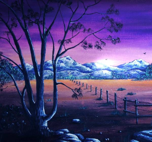 Painting - Midnight At The Border by Anastasiya Malakhova