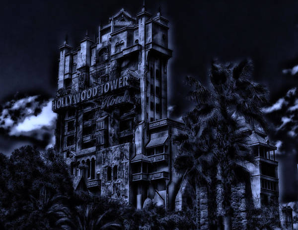 Wdw Photograph - Midnight At The Tower Of Terror by Thomas Woolworth