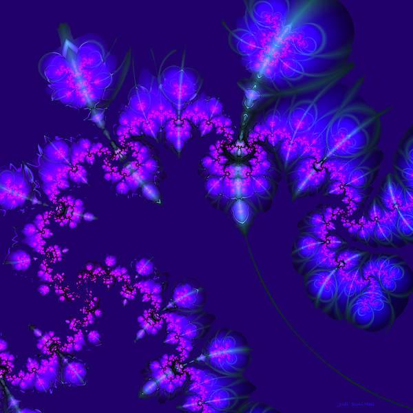 Digital Art - Midnight Blossoms by Judi Suni Hall