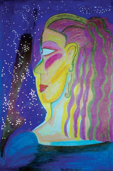 Primary Colors Drawing - Midnight Blush by Mike Manzi