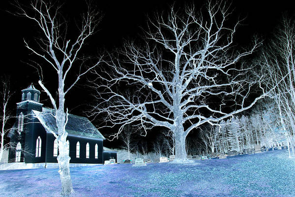 Photograph - Midnight Country Church by David Yocum