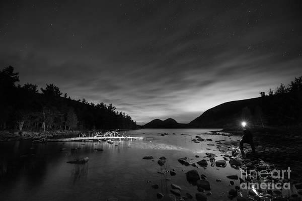 Mv Photograph - Midnight Explorer Bw by Michael Ver Sprill