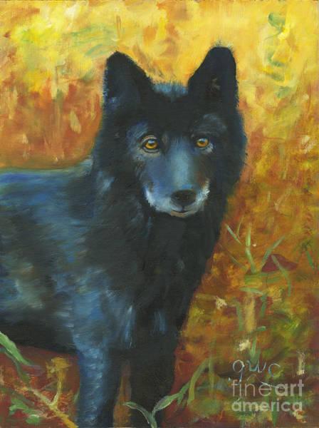 Wall Art - Painting - Midnight Eyes by Gloria Condon