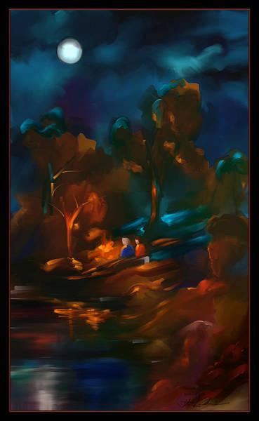 Wall Art - Painting - Midnight Fire - Scratch Art Series - # 64 by Steven Lebron Langston
