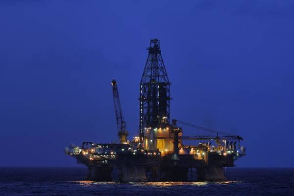 Photograph - Midnight Offshore At An Oil Rig by Bradford Martin