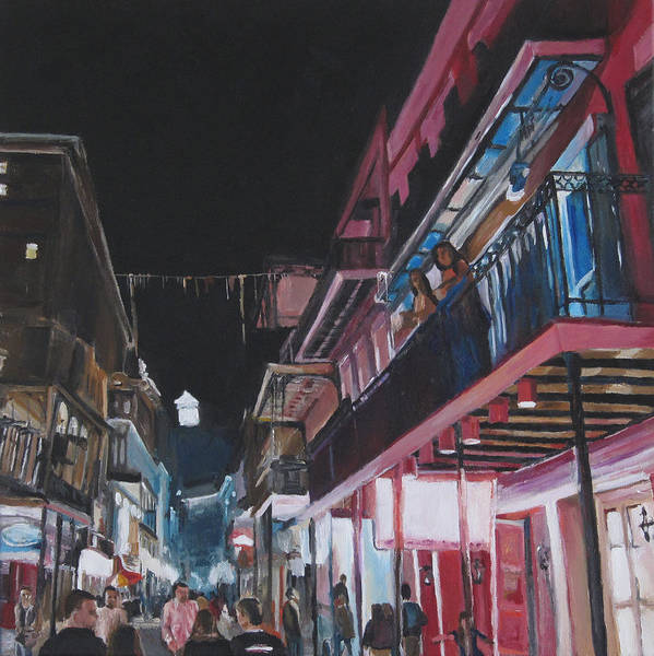 Wall Art - Painting - Midnight On Bourbon Street by Christy Koerner