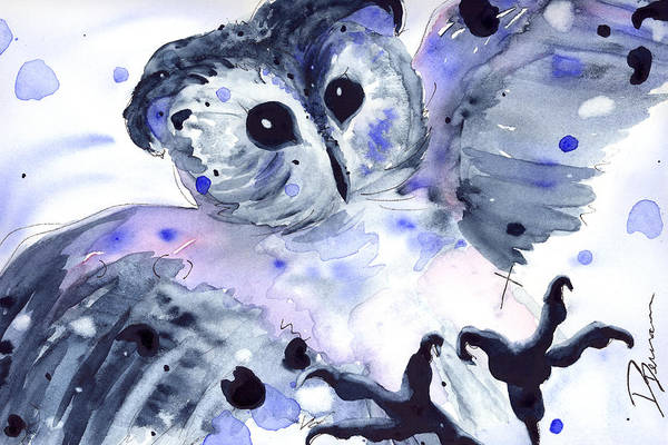 Painting - Midnight Owl by Dawn Derman