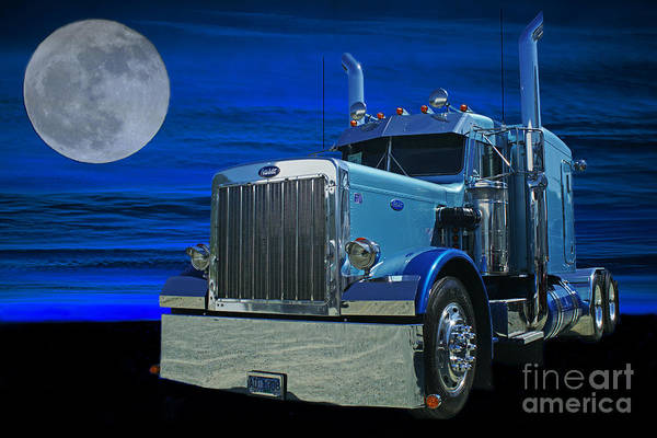 Semi Truck Photograph - Midnight Peterbilt by Randy Harris