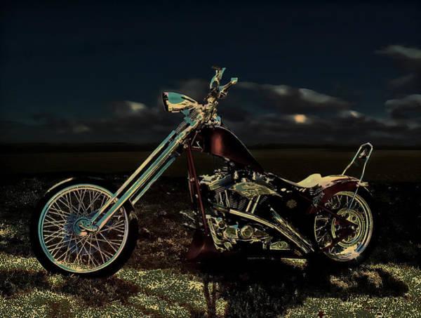 Photograph - Midnight Rest Stop Bike Art by Lesa Fine