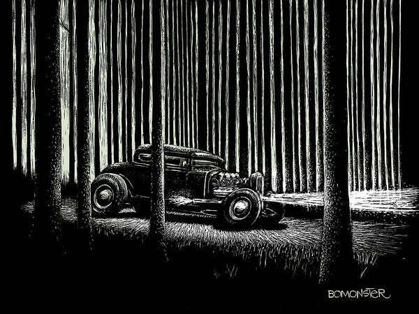 Wall Art - Drawing - Midnight Run by Bomonster