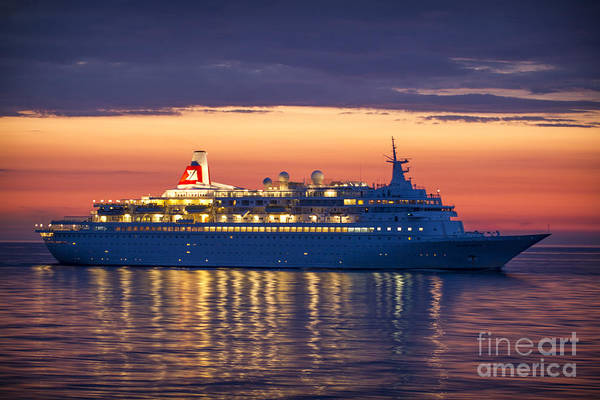 Photograph - Midnight Sun Black Watch Cruise Liner by Clare Bambers