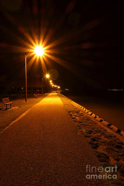 Promenade Photograph - Midnight Walk by Olivier Le Queinec
