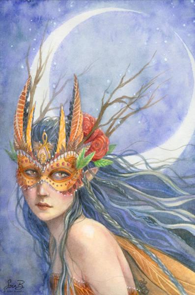Sara Painting - Midnight Warrior by Sara Burrier