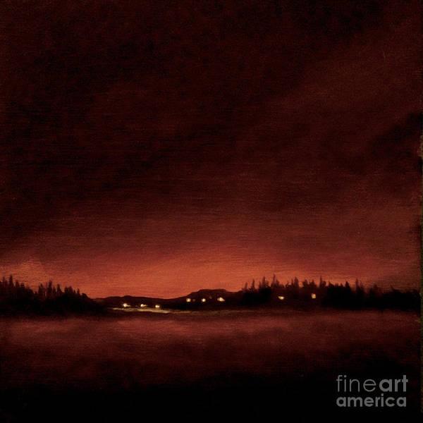 Painting - Midnight Winter Swedish Light by Ric Nagualero