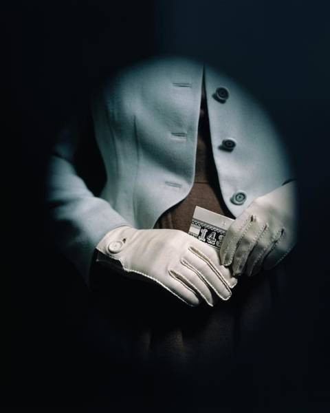 Number One Wall Art - Photograph - Midsection Of A Woman Wearing White Gloves by Frances McLaughlin-Gill