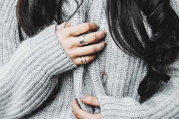 Midsection Of Woman In Warm Clothing Art Print by Anna Kravtsova / EyeEm