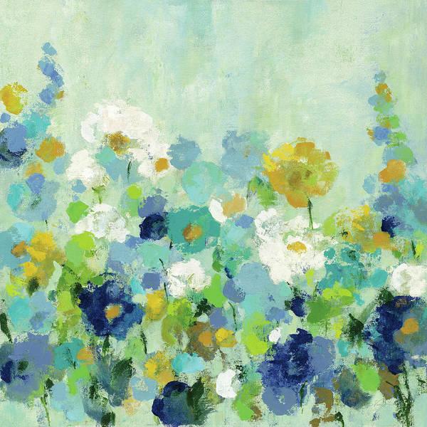 Wall Art - Painting - Midsummer Garden White Flowers by Silvia Vassileva