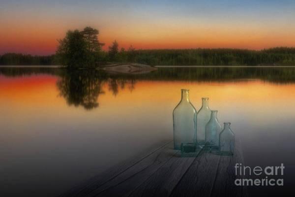 Water Bottle Wall Art - Photograph - Midsummer Magic by Veikko Suikkanen