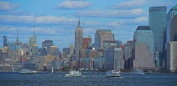 Digital Art - Midtown Manhattan by Dan Sproul