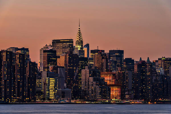 Wall Art - Photograph - Midtown Manhattan Skyline At Sunset by F. M. Kearney