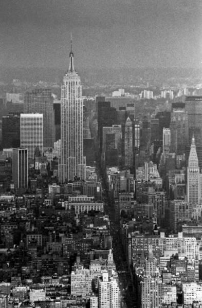 Photograph - Midtown Manhattan Winter 1980s by Gary Eason