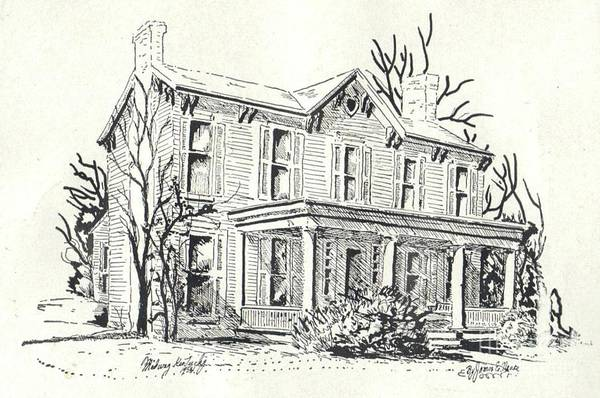 Drawing - Midway Home by David Neace