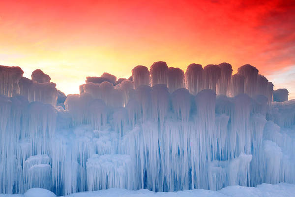 Photograph - Midway Ice Castles by Johnny Adolphson