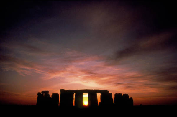 Wall Art - Photograph - Midwinter Sunset At Stonehenge by Robin Scagell/science Photo Library