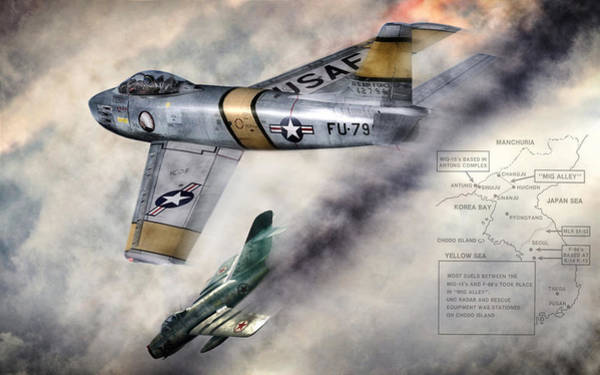 Wall Art - Digital Art - Mig Alley by Peter Chilelli