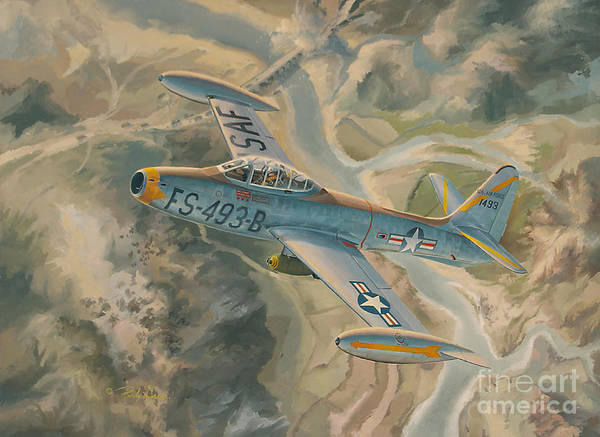 Helicopter Painting - Mig Killer by Randy Green