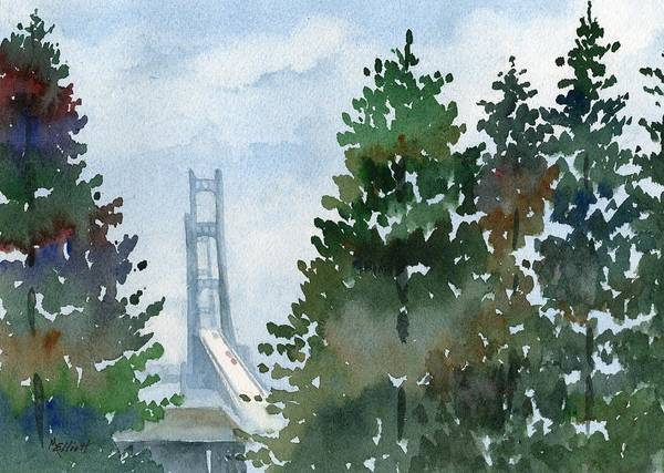 St Ignace Wall Art - Painting - Mighty Mac by Marsha Elliott