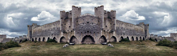 Photograph - Mighty Medieval City Wall Defences. Panorama by Dreamland Media