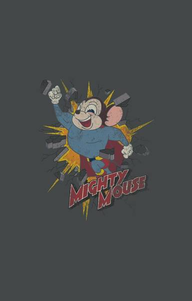 Wall Art - Digital Art - Mighty Mouse - Break Through by Brand A