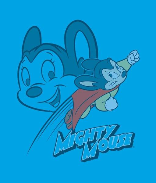 Wall Art - Digital Art - Mighty Mouse - Double Mouse by Brand A