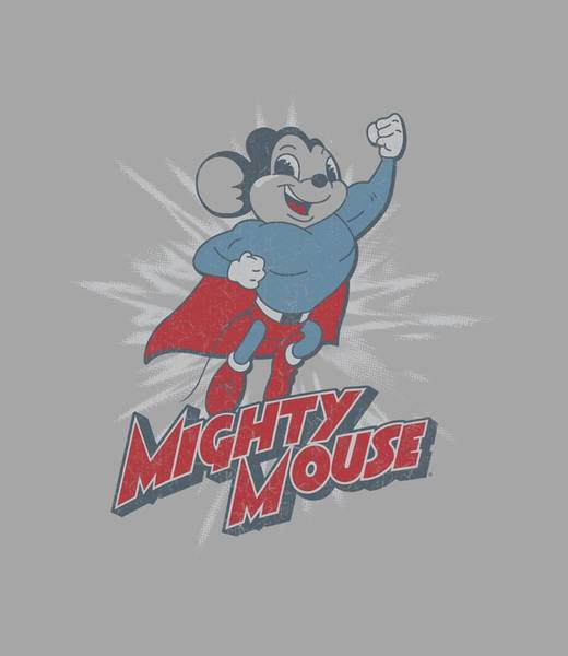 Wall Art - Digital Art - Mighty Mouse - Mighty Blast Off by Brand A