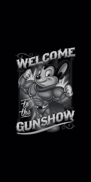 Wall Art - Digital Art - Mighty Mouse - Mighty Gunshow by Brand A