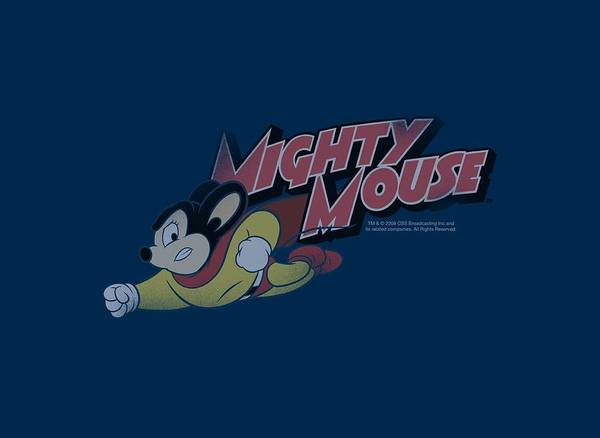 Wall Art - Digital Art - Mighty Mouse - Mighty Retro by Brand A
