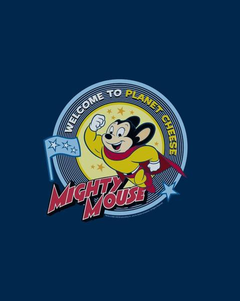 Wall Art - Digital Art - Mighty Mouse - Planet Cheese by Brand A
