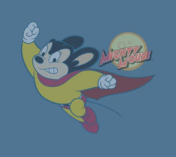 Wall Art - Digital Art - Mighty Mouse - To The Sky by Brand A