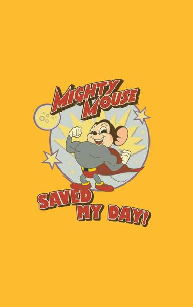 Wall Art - Digital Art - Mighty Mouse - Vintage Day by Brand A