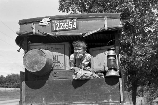 Muskogee Photograph - Migrant Child, 1939 by Granger