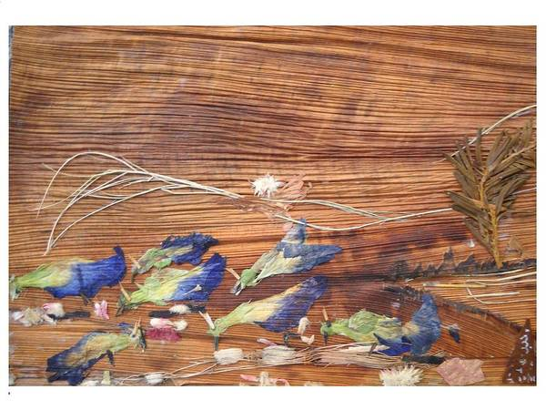 Wall Art - Mixed Media - Migrated Birds by Basant Soni