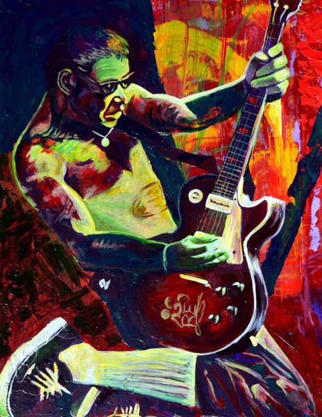 Masculine Painting - Mike Ness by Kat Richey