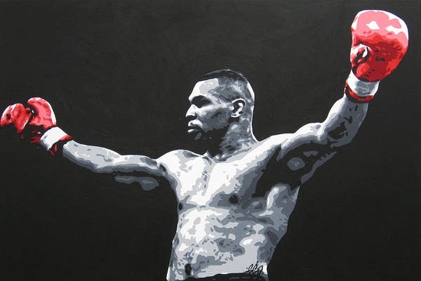 Boxing Painting - Mike Tyson 1 by Geo Thomson