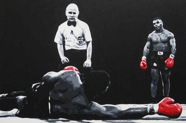 Boxing Painting - Mike Tyson 3 by Geo Thomson