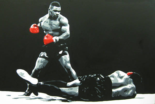 Boxing Painting - Mike Tyson 5 by Geo Thomson