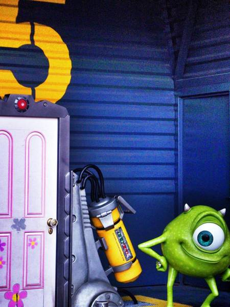 Photograph - Mike With Boo's Door - Monsters Inc. In Disneyland Paris by Marianna Mills