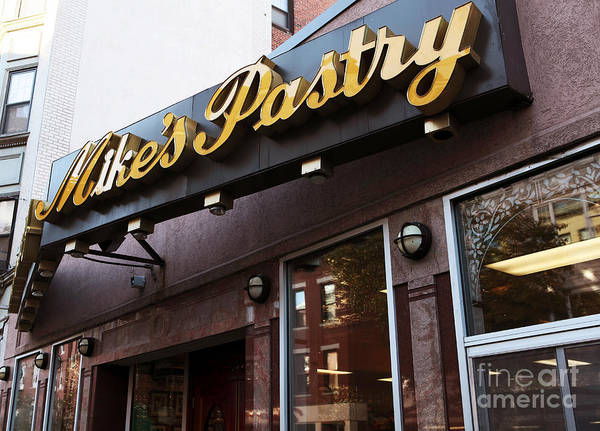 Photograph - Mike's Pastry by John Rizzuto